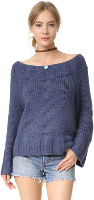 Free People Beachy Slouchy Pullover Sweater $108 thestylecure.com