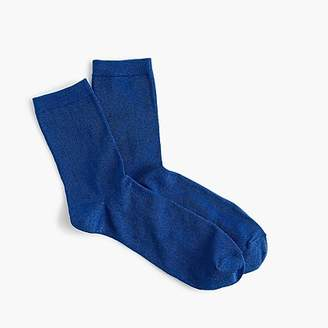 J.Crew Space dye lurex bootie socks