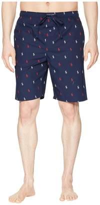 Polo Ralph Lauren All Over Pony Print Sleep Shorts Men's Pajama