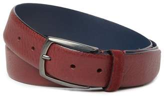 Ted Baker Cubes Leather Belt with Suede Keeper