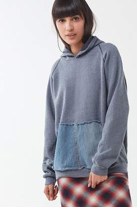 Urban Renewal Vintage Recycled Denim Pocket Hoodie Sweatshirt