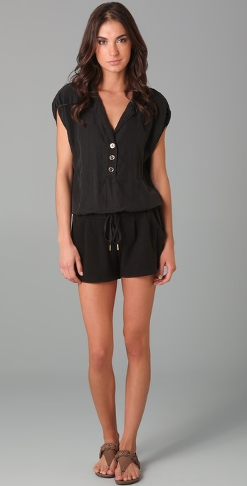 Juicy Couture Silk Top Romper