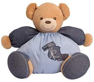 Kaloo Denim Maxi Chubby Bear Plush Toy and PVC Bag by