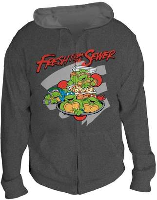 e545b0fb Bioworld Teenage Mutant Ninja Turtles Fresh from the Sewer Men's Gray Hoodie