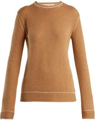 Marni Contrasting-jacquard cashmere sweater