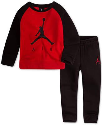Jordan Little Boys 2-Pc. Air-Print Top & Pants Set