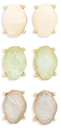 Women's Bp. 3-Pack Crystal Stud Earrings $12 thestylecure.com
