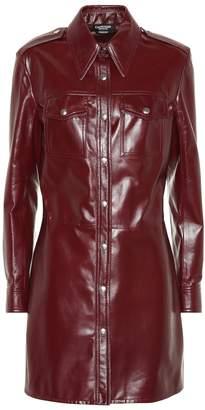 Calvin Klein Leather shirt dress