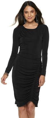 0a50c7e8cf69 JLO by Jennifer Lopez Women s Ruched Sheath Dress