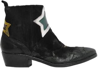 Elena Iachi 40mm Stars Vintage Suede Cowboy Boots