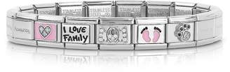 Nomination Classic Mamma Stainless Steel Women's Bracelet w/Pink Symbols