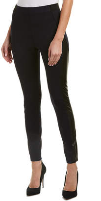 Elie Tahari Leather-Trim Pant