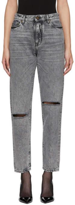 Black Faded Slim Jeans