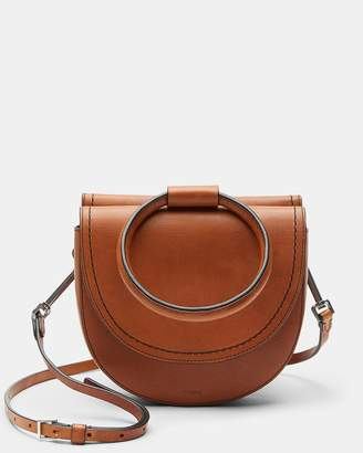 Theory Whitney Bag With Leather Hoop in Nappa Leather