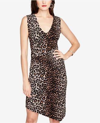 Rachel Roy Printed Ruched Asymmetrical-Hem Dress, Created for Macy's