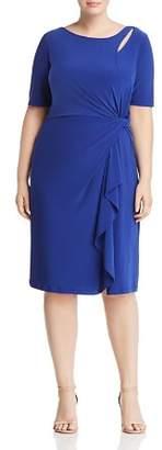 Adrianna Papell Plus Twist-Front Dress