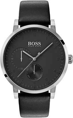 BOSS Oxygen Chronograph Leather Strap Watch, 42mm
