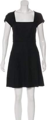 L'Agence Textured Mini A-Line Dress