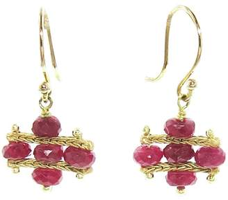 Ten Thousand Things Ruby Foxtail Crest Earrings