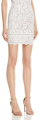 AQUA Lace Mini Skirt - 100% Exclusive $68 thestylecure.com