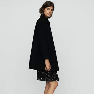 Maje Wool trapeze coat