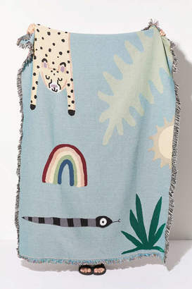 Urban Outfitters Jarmél By Jarmel Exclusive Happy Buddies Woven Throw Blanket