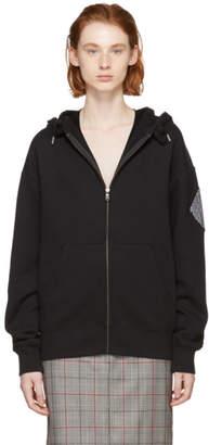 Proenza Schouler Black PSWL Logo Zip-Up Hoodie