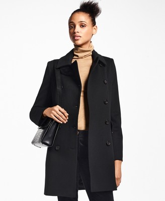 Brooks Brothers Brushed Wool Twill Peacoat