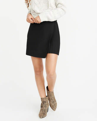 Abercrombie & Fitch Pleated Wrap-Front Mini Skirt