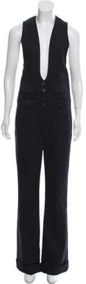 Chloé Tailored Wool Jumpsuit Navy Chloé Tailored Wool Jumpsuit