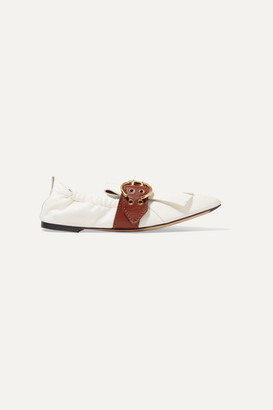 Chloé Roy Fringed Leather Loafers - White