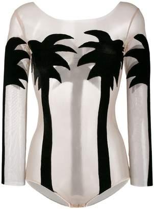 Alexia Hentsch silk palm tree bodysuit