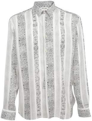 Saint Laurent Yves Neck Bandana Print Shirt