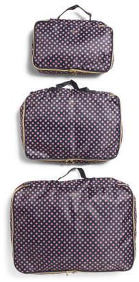 3pc Polka Dots Travel Cubes