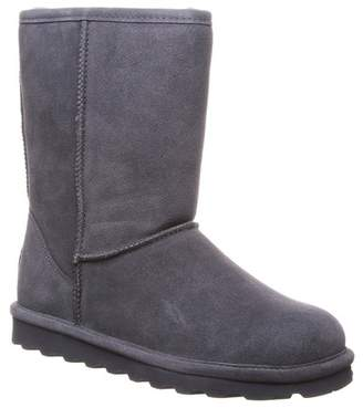 BearPaw Elle Short Wide Suede Genuine Sheepskin Footbed Boot