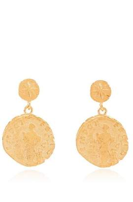 Anni Lu gold plated sterling silver Sisters Coin earrings