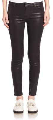7 For All Mankind Ankle Skinny Coated Jeans $199 thestylecure.com