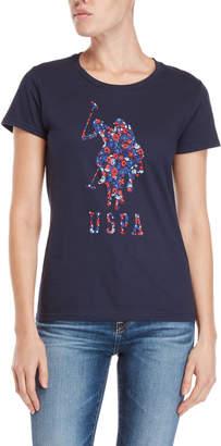 U.S. Polo Assn. Floral Logo Tee
