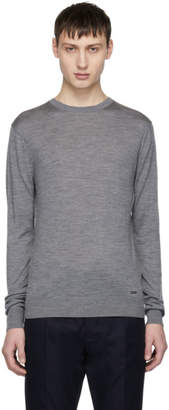 DSQUARED2 Grey Wool Pullover