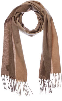 Qi Brown Ombre Cashmere Scarf