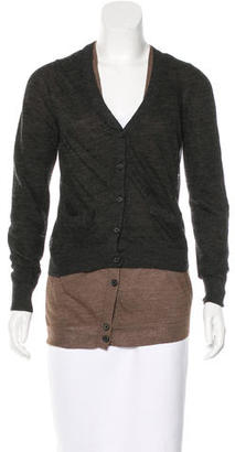 Vera Wang Wool Layered Cardigan $125 thestylecure.com