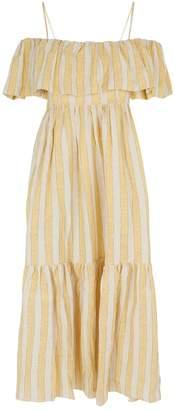 Three Graces London Ida Stripe Midi Dress