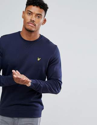 Lyle & Scott Crew Neck Sweatshirt Eagle Logo in Navy