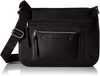 Calvin Klein Lisa Nylon Front Zipper Pocket Messenger