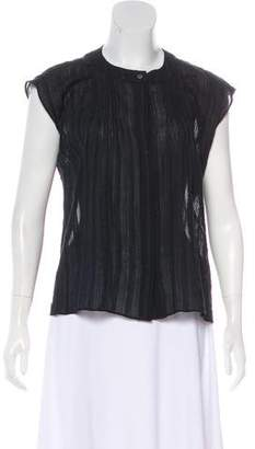 Steven Alan Sheer Sleeveless Peasant Top