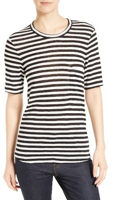 Women's A.l.c. Joels Stripe Linen Tee $135 thestylecure.com
