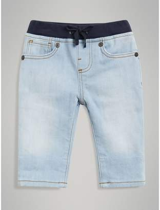 Burberry Relaxed Fit Pull-on Denim Jeans