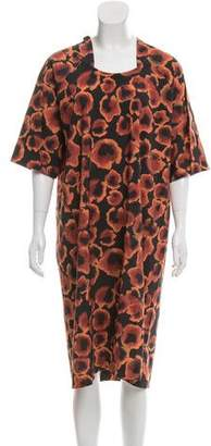 Cacharel Abstract Print Wool Dress