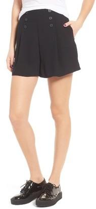 Women's Leith Pleat Shorts $55 thestylecure.com