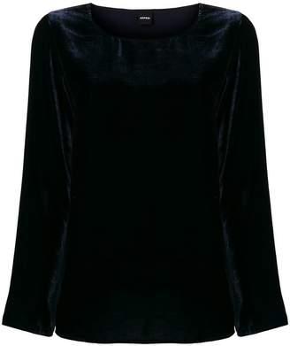 Aspesi long-sleeve velvet blouse